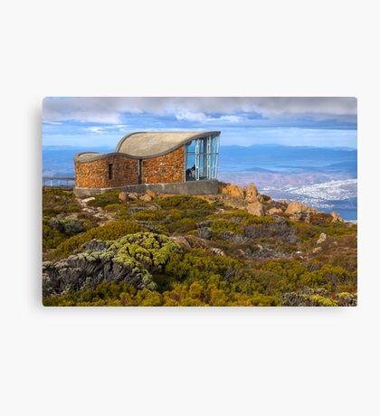 Pinnacle shelter at Mount Wellington Canvas Print
