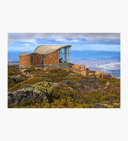 Pinnacle shelter at Mount Wellington Photographic Print