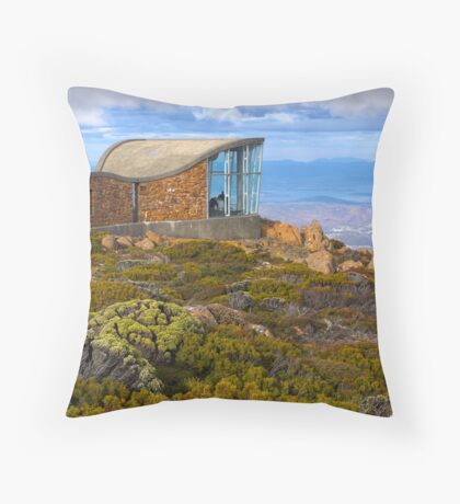 Pinnacle shelter at Mount Wellington Throw Pillow