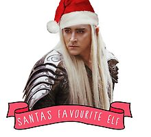 Santa's Favourite Elf - Thranduil by casscain