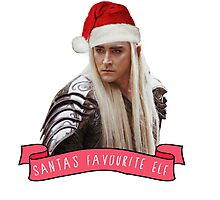 Santa's Favourite Elf - Thranduil Photographic Print