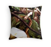 Lily and the Eel Throw Pillow