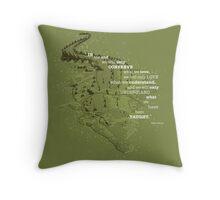 Crocography Throw Pillow