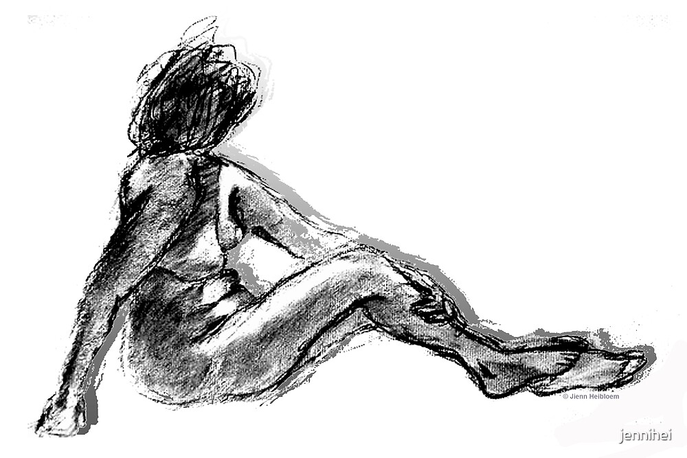 Nude- Life Drawing by jennihei