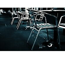 At empty chairs and empty tables Photographic Print