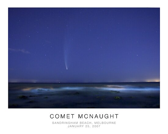 Comet McNaught from the beach by Pirostitch