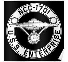 USS Enterprise Logo - Star Trek - NCC-1701 (TOS) Poster