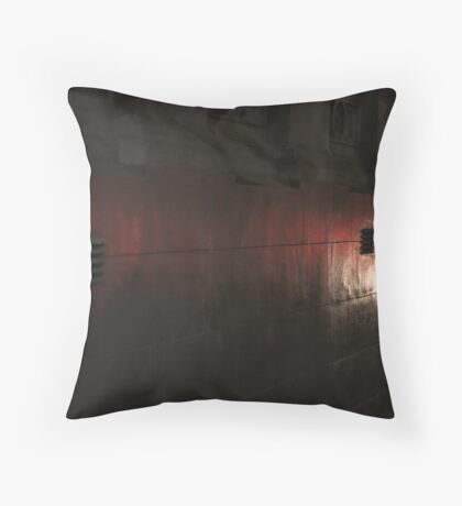 Mono and red textures Throw Pillow