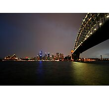 Sydney Harbour at Night Photographic Print