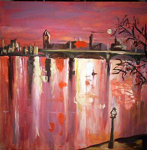 Red Skyline by LornaA