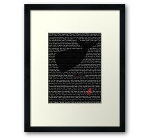 The Whale and the Bowl of Petunias Framed Print