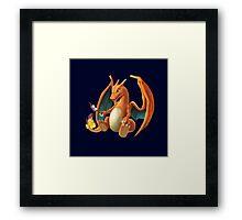 Charizard - Marshmallow Framed Print