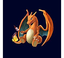 Charizard - Marshmallow Photographic Print