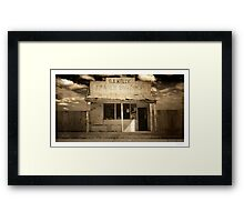 Kelly's old butcher shop, Whitton, NSW Framed Print