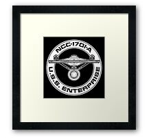 USS Enterprise Logo - Star Trek - NCC-1701-A (movie) Framed Print