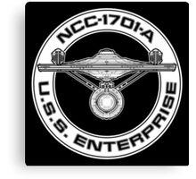 USS Enterprise Logo - Star Trek - NCC-1701-A (movie) Canvas Print