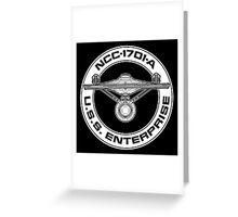 USS Enterprise Logo - Star Trek - NCC-1701-A (movie) Greeting Card