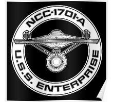 USS Enterprise Logo - Star Trek - NCC-1701-A (movie) Poster