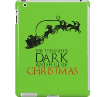Thrones Christmas: The Night is Dark iPad Case/Skin
