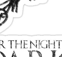 Thrones Christmas: The Night is Dark Sticker