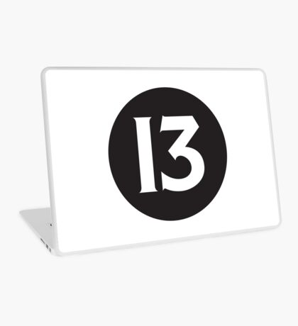 Number 13 Black Laptop Skin