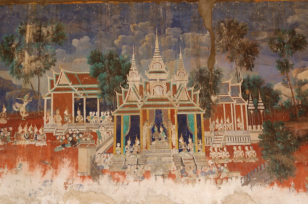 Grand Palace Mural - Phom Penn, Cambodia by Chris Moysey