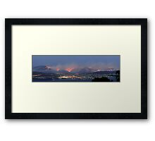 Hobart Bushfires Framed Print