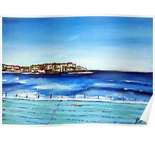 Bondi Icebergs ..or blue is my fav colour.. Poster