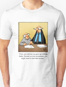 """Funny """"Spectickles"""" Accounting Cartoon Unisex T-Shirt"""