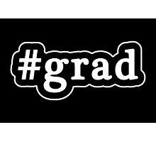 Grad - Hashtag - Black & White Photographic Print
