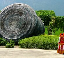 Kunming Drum Sculpture by Mark Snelson