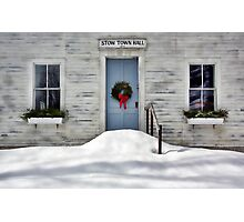 The Stow Town Hall 1842 - Stow,  Maine Photographic Print
