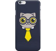 Geeky Grey Kitty Cat iPhone Case/Skin