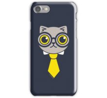 Geeky Grey Kitty Cat iPhone Case/Skin