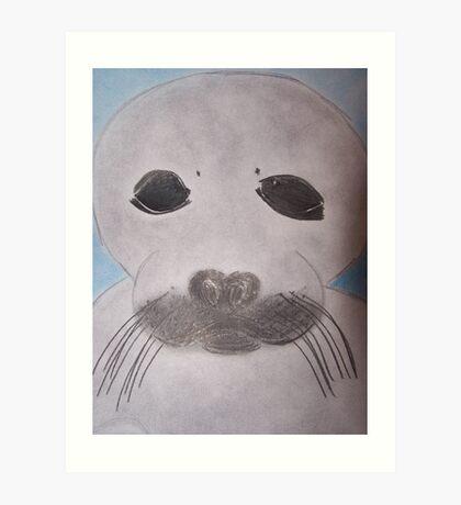 Save The Beautiful Seals Art Print