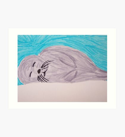 Save The Baby Seals Art Print