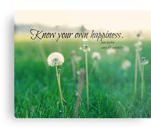 Happiness Jane Austen Metal Print