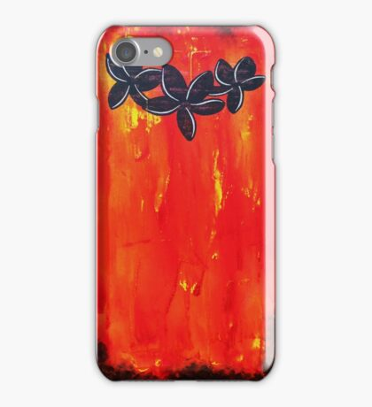 Frangipani Inferno by Wayne Sotogi  iPhone Case/Skin