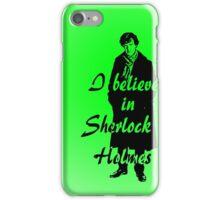 I believe in sherlock Holmes - green iPhone Case/Skin