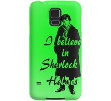 I believe in sherlock Holmes - green Samsung Galaxy Case/Skin