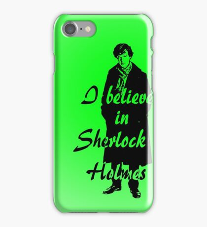 I believe in sherlock Holmes - green iPhone Case/Skin