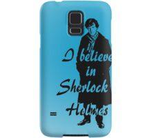 I believe in sherlock Holmes - blue Samsung Galaxy Case/Skin