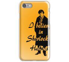 I believe in sherlock Holmes - orange iPhone Case/Skin