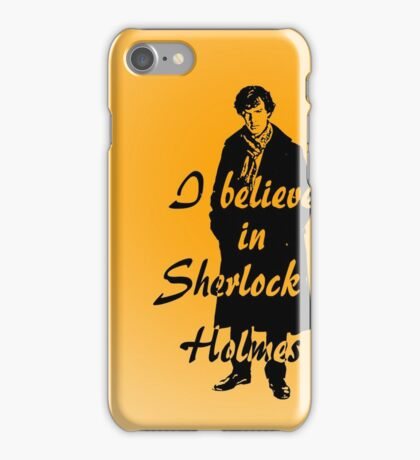 I believe in sherlock Holmes - orange iPhone Case/Skin
