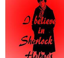 I believe in sherlock Holmes - red by ibx93