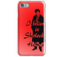 I believe in sherlock Holmes - red iPhone Case/Skin