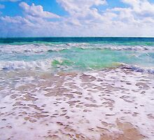 Atlantic Ocean On Florida Beach by Phil Perkins