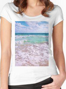 Atlantic Ocean On Florida Beach Women's Fitted Scoop T-Shirt
