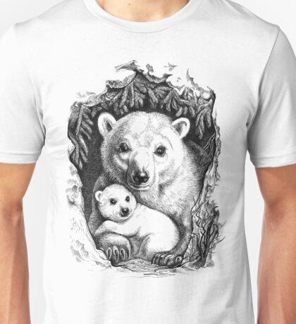 Polar bear family Unisex T-Shirt