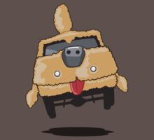 Mutt Cutts Dumb Shag Waggon Dog Car by DeepFriedArt